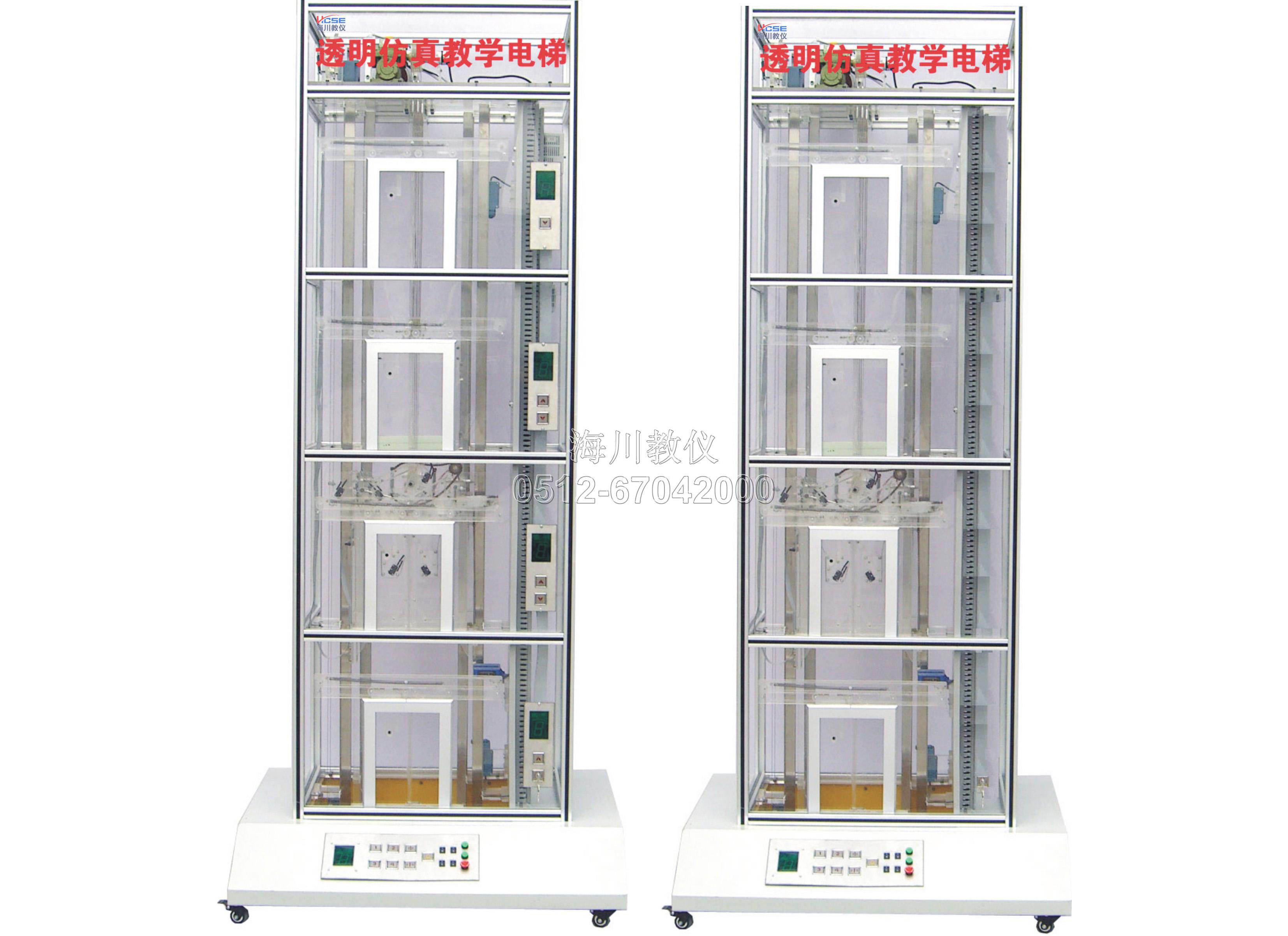 四层双联透明仿真教学电梯实训装置产品图片