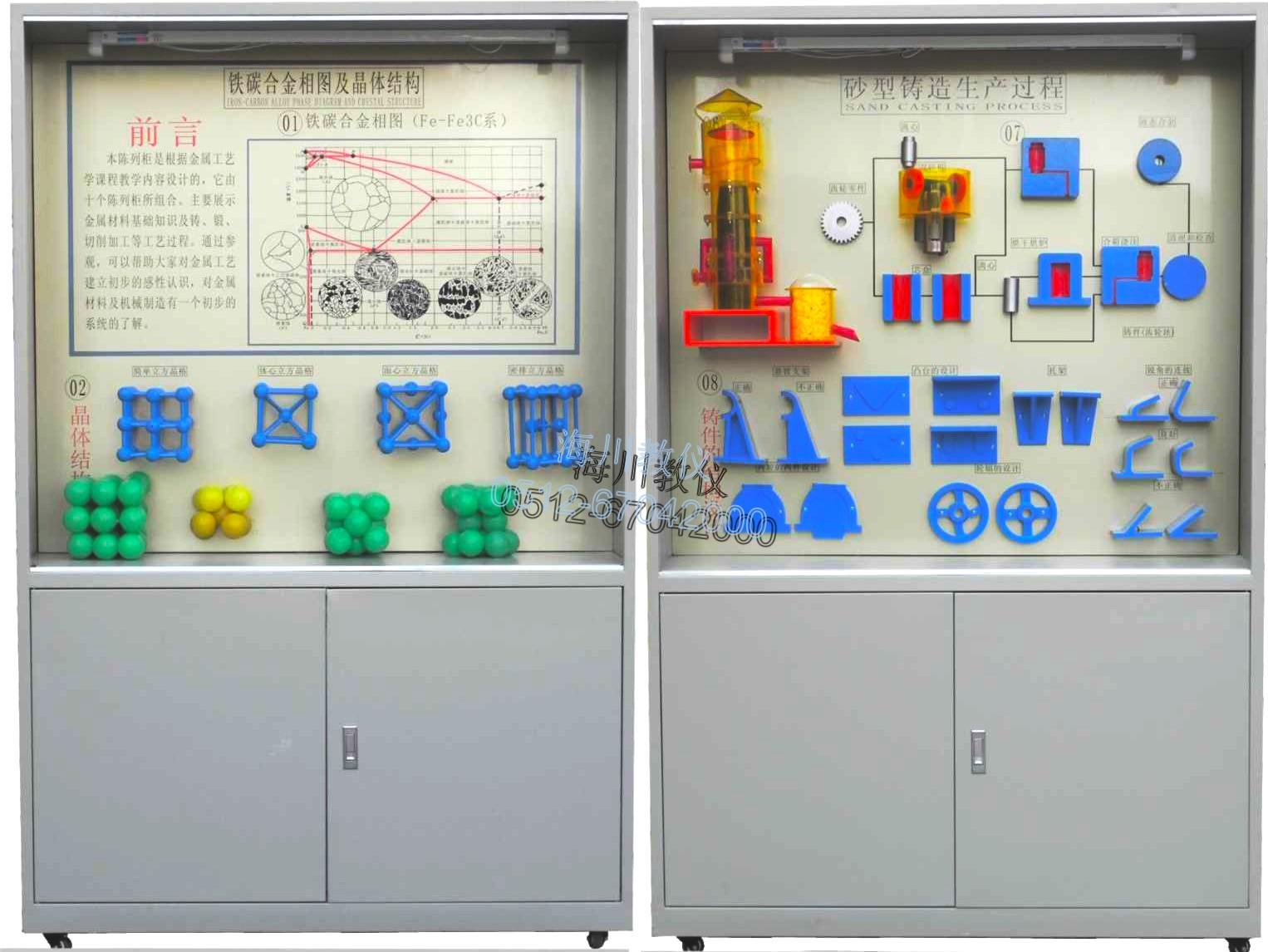 金属工艺学示教陈列柜产品图片