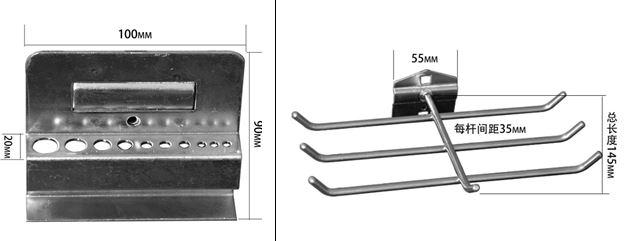 钳工实训台挂钩挂架零件盒系列产品图片